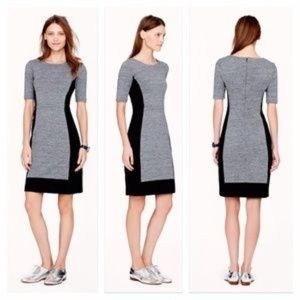 J.Crew Grey Black Panel Dress